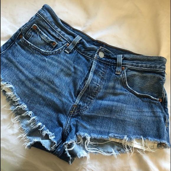 5ae50d69 Levi's Shorts | Levis 501 Cutoff Denim Cheeky Size 27 | Poshmark
